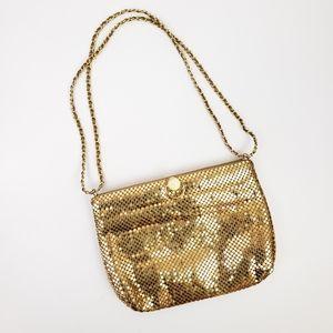Vintage Gold Metal Mesh Shoulder Bag